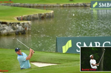 Rashid lying seventh, but in running for a spot for The Open; Kuchar leads