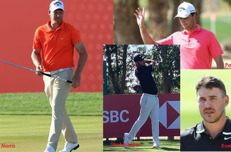 Sharma upset with late bogeys, Koepka in full flow on return from injury