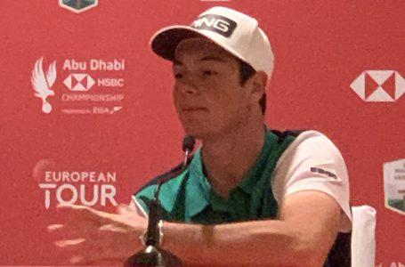 Hovland speaks before Abu Dhabi Golf Champs