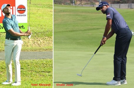 Khalin overcomes neck pain to grab two-shot lead; Ahlawat is second