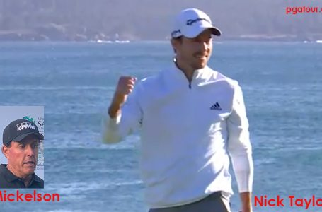 Taylor outplays field at AT&T Pebble Beach; Mickelson finishes third