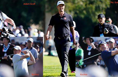 McIlroy, Scott and Kuchar share lead; Woods way back at Genesis