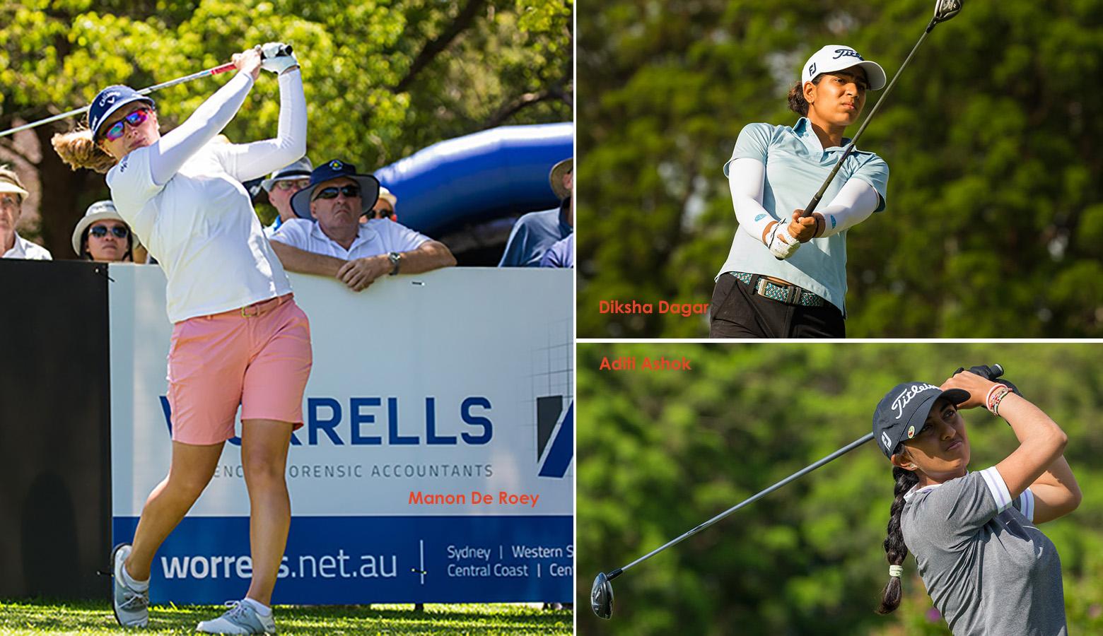Diksha soars to second, Aditi is Tied-11 in NSW Open; De Roey leads