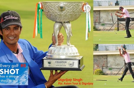 SHOT 8 – When the golf ball followed Commander Digvijay's orders to a tee