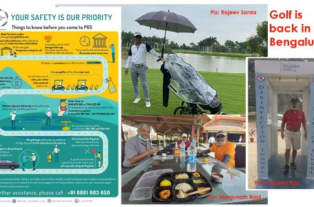 Bengaluru golfers take Covid-19 rules in their stride; begin search for birdies