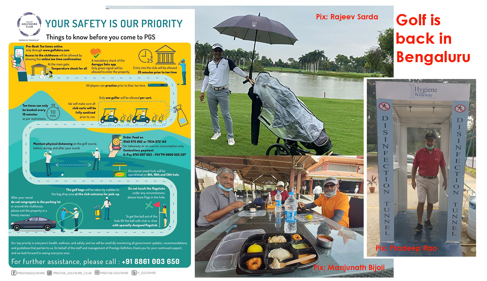 Bengaluru golfers take Covid-19 rules in their stride; set out in search of birdies