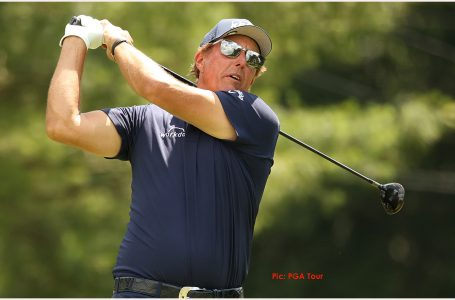 Life begins afresh at 50, as Mickelson leads at Travelers