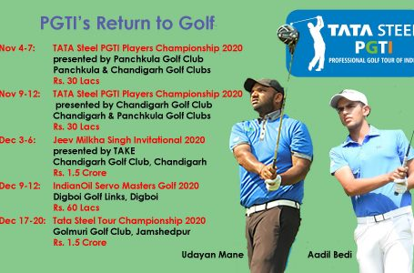 Sigh of relief for golf as TATA Steel PGTI Tour resume from Nov 4; 5 events with total purse of Rs. 4.2 cr