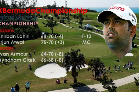 Lahiri battles windy conditions to rise to T-12 in Bermuda; Atwal exits