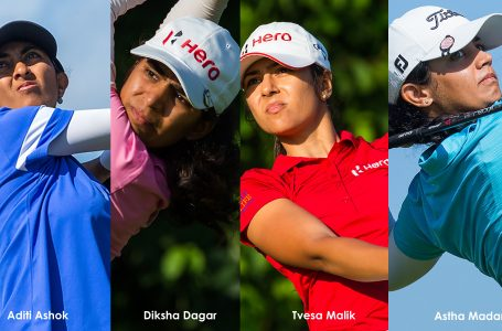 All four Indian girls, Aditi, Diksha, Tvesa and Astha card 3-over 75, lies 29th in Dubai
