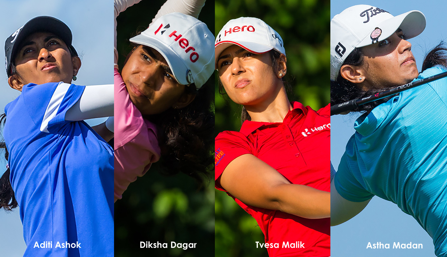 All four Indian girls, Aditi, Diksha, Tvesa and Astha card 3-over 75, lies 29th in Dubai