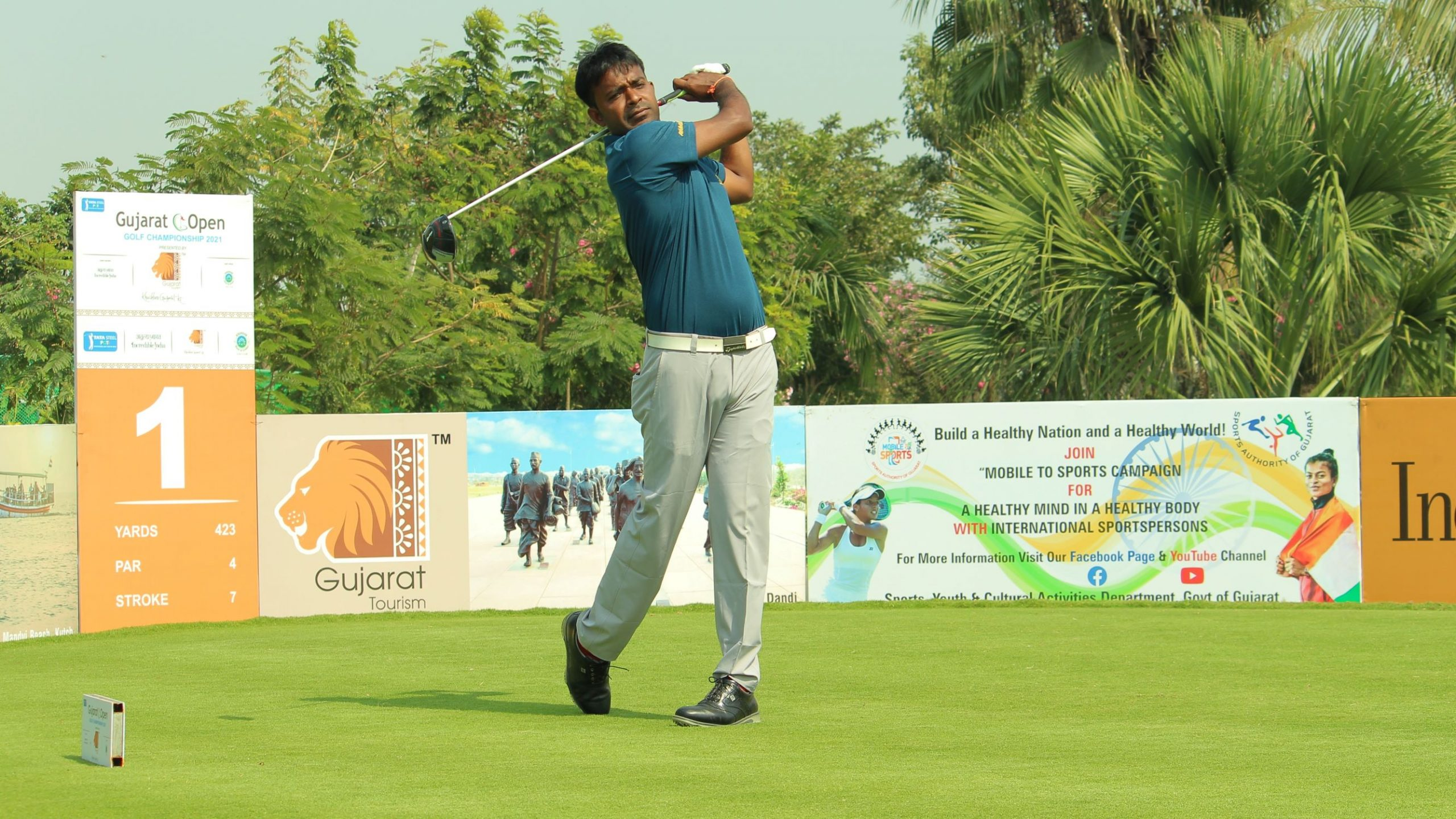 Om Prakash Chouhan stretches lead to seven shots with steady 69