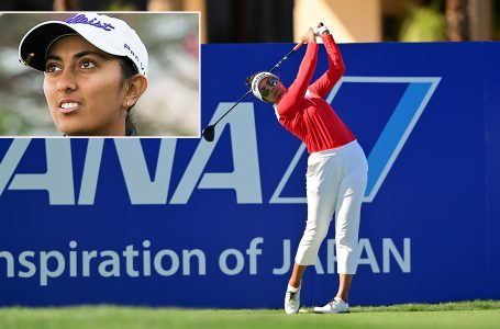 Aditi slips in 3rd round; Thai Tavatanakit takes lead at ANA Inspiration