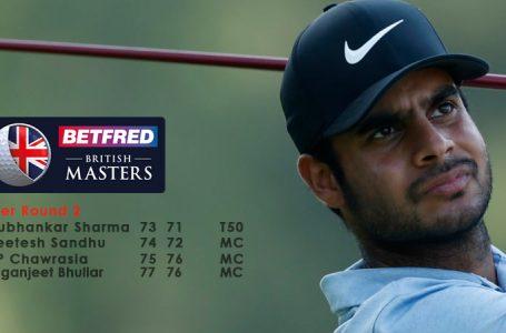 Sharma alone makes cut at British Masters