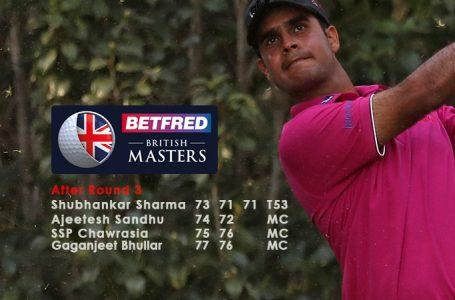 Sharma lies 53rd as Pepperell takes lead in British Masters