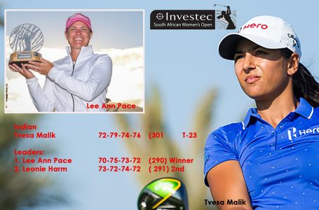 Tvesa finishes T-23 as Lee Ann wins Women's SA Open for fourth time