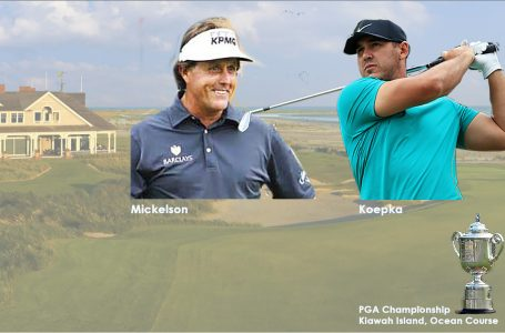 Mickelson chases history; dodgy-kneed Koepka chases Mickelson at PGA