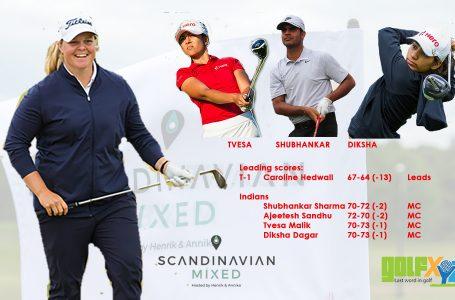 Indians miss cut despite valiant attempt; Hedwall leads Scandinavian Mixed
