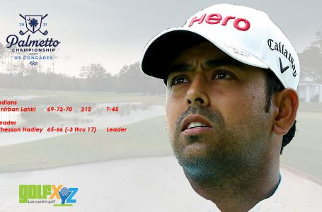Lahiri rides another roller-coaster in third round at Palmetto
